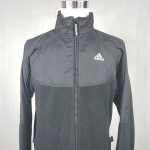 Adidas Full Zip Black Jacket Men's Medium EUC